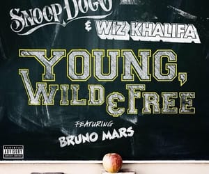 album cover, snoop dogg, and young wild and free image