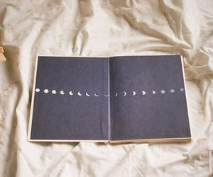 moon, book, and vintage image