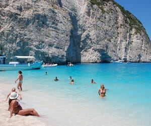 Greece and navagio beach image