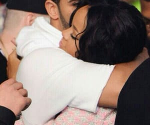 rihanna, Drake, and hug image