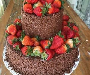 cake, chocolate cake, and pastel image