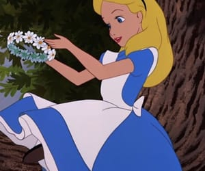 alice, disney, and flower crown image
