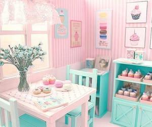 pastel, pink, and cupcake image