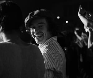 Harry Styles, smile, and black and white image