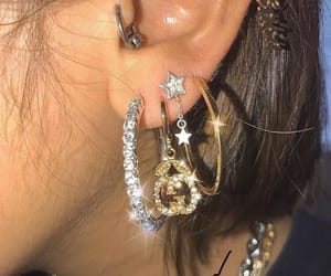 bling, earrings, and fashion image