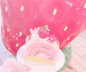 strawberry, tokyo, and strawberry cake image