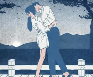 draw, love illustration, and couple dessin image