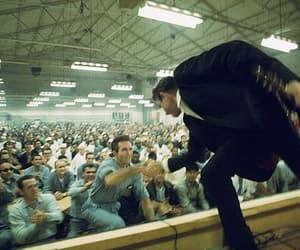 Johnny Cash, prison, and Man in Black image