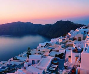 Greece, travel, and sunset image