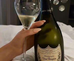 champagne, drink, and Dom Perignon image