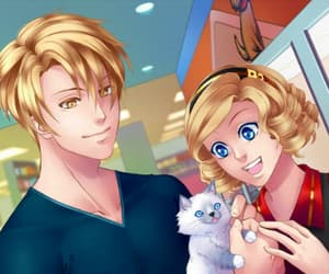 ad, pet, and blond hair image