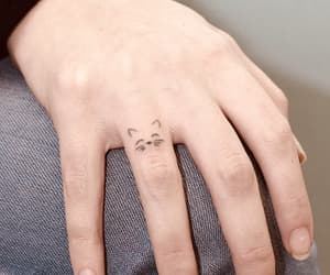 tattoo, cat, and pet image