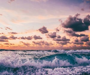 sea, clouds, and sky image