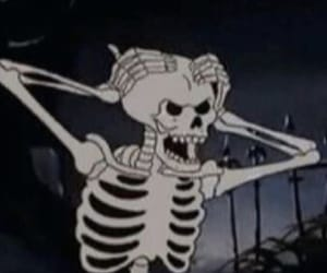 skeleton, Halloween, and cartoon image