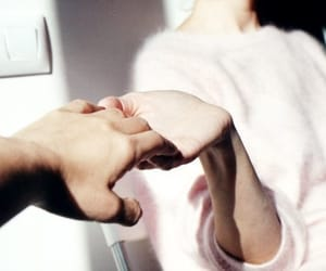 couple, hands, and white image