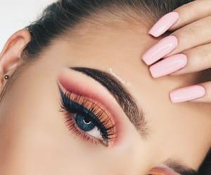 aesthetic, blue eyeliner, and make-up image