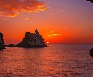 beauty, sea, and sunset image