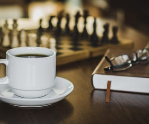 book, food, and chess image