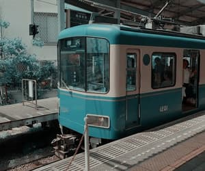 japan, train, and aesthetic image