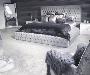bedroom, grey, and home image