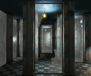 eerie, exit, and funhouse image