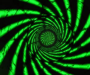 green and spiral image