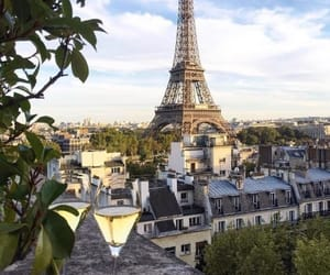 paris, champagne, and eiffel tower image