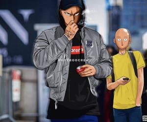 supreme, one punch man, and saitama image