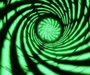 fallout, green, and spiral image