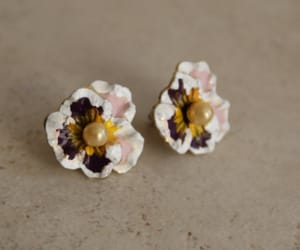 etsy, pink purple, and pierced earrings image