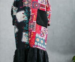 etsy, plus velvet dress, and evening dress image