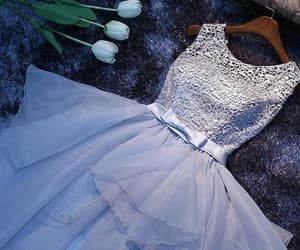 prom dress lace and prom dress white image