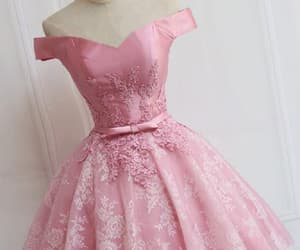prom dresses pink, prom dresses a-line, and lace prom dresses image