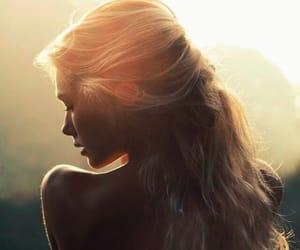sun, beauty, and hair image