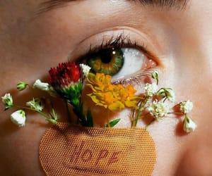 flowers, hope, and eyes image