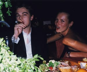 kate moss, leonardo dicaprio, and 90s image