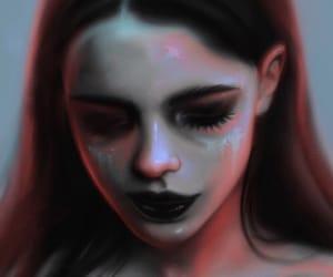 art, demon, and girl image