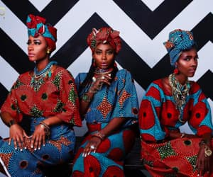 african queen, african dress, and ankara image