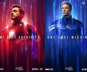 captain america, steve rogers, and iron man image