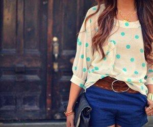 fashion, girl, and blue image
