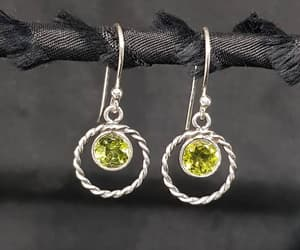 etsy, fashion jewelry, and round earrings image