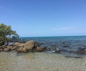 australia, waves, and rock pools image