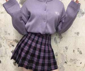 fashion, outfit, and purple image