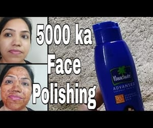video, beauty tips, and face polishing image