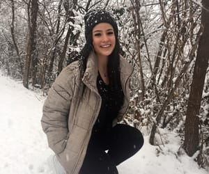 beanie, nature, and snow image