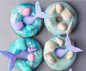donuts, mermaid, and sweet image