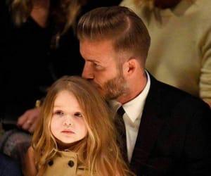 David Beckham, family, and daughter image
