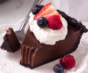 chocolate, blueberry, and delicious image