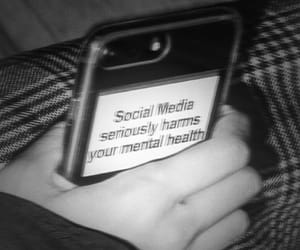 black and white, social media, and harm image