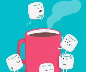 marshmallows, cute, and hotchocolate image